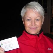 1. Marianne Skurdal, 16 poeng, med sjekken