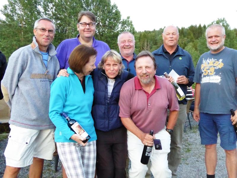Bak f.v. Olaf Thomassen (lag 6), Anders Hoel (Losby, lag 2), Roald Eilertsen (lag 2), Lars Sandberg (lag 2), Bjørn Erik Bugge (lag 6). Foran f.v. Rutt Brautaset (Østmarka, lag 6), Lise Brekka (lag 2), Jon Kittilsen (lag 6).