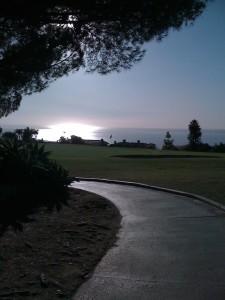 Solnedgang på Los Verdes.