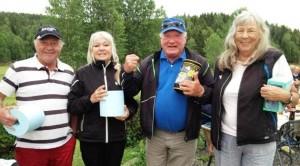 Vinnerlaget (f.v): Roald Eilertsen, Britha Amundsen, Ådne Trygg og Aud Jørgensen