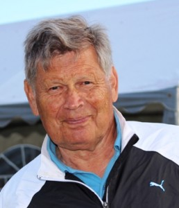 Han kan være god til å putte han Johansen, og det ble birdie på hull 4 til Finn Arne i dag.