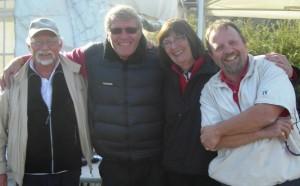 Nummer to ble laget som besto av (fra venstre) Jan Berg Jansen, Jan Roger Arensen, Ragnhild Lied Johansen og Jon Kittilsen, som altså ble slått i loddtrekningen, også med 36 slag.