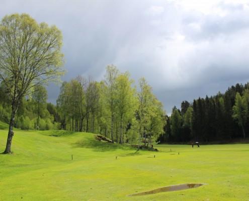 Blandet vær, her både regn og sol samtidig